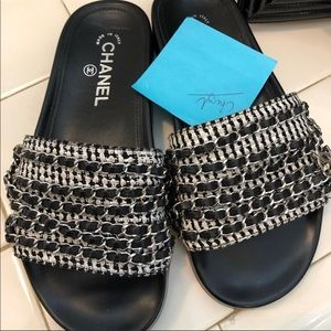 Authentic Chanel slides